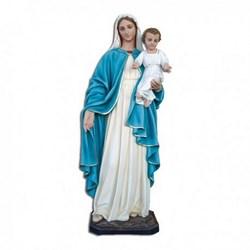 Statua Madonna con bambino in vetroresina cm 170