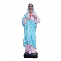 Statua Sacro Cuore di Maria in resina cm 40
