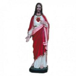 Statua Sacro Cuore di Gesù in vetroresina cm 70