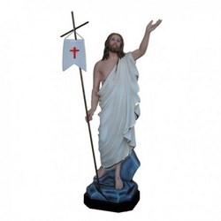 Statua Gesù Risorto in vetroresina cm 110