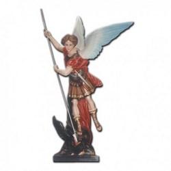 Statua San Michele Arcangelo con lancia in vetroresina cm 160