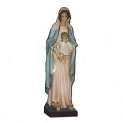 Statua Madonna con bambino in vetroresina cm 100