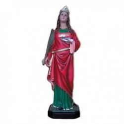 Statua Santa Lucia in vetroresina cm 110