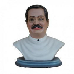 Statua San Giuseppe Moscati mezzo busto in vetroresina cm 35