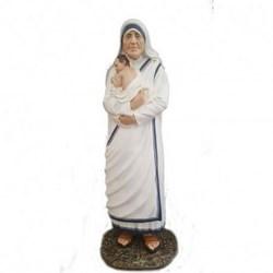 Statua Santa Madre Teresa di Calcutta in vetroresina cm 150 con bambino