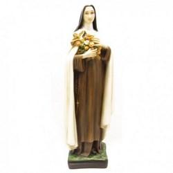 Statua Santa Teresa in resina cm 40