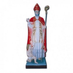 Statua San Biagio con bambino in vetroresina cm 150