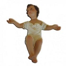 Statua Gesù Bambino a braccia aperte in resina cm 25