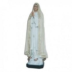 Statua Madonna di Fatima decoro ricco in vetroresina cm 120