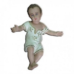 Statua Gesù Bambino a braccia aperte in resina cm 40