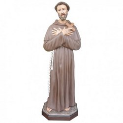 Statua San Francesco d'Assisi in vetroresina cm 150