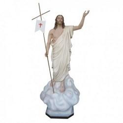 Statua Gesù Risorto in vetroresina cm 200