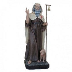 Statua Sant'Antonio Abate in vetroresina cm 160