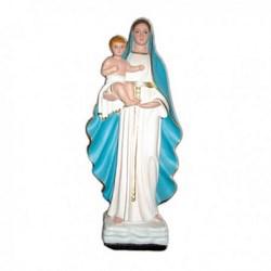Statua Madonna Regina del Castello in resina cm 42