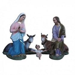 Natività completa da 5 statue in vetroresina cm 80
