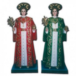 Statua Santi Cosma e Damiano in vetroresina cm 170