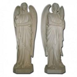 Coppia statue Angeli in piedi portacandele in vetroresina cm 160