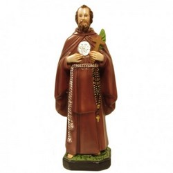 Statua San Ciro in resina cm 35
