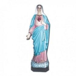 Statua Sacro Cuore di Maria in vetroresina cm 110