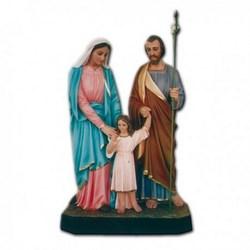 Statua Sacra Famiglia in vetroresina cm 110