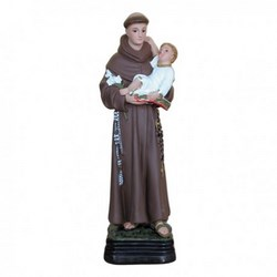 Statua Sant'Antonio da Padova in resina cm 30