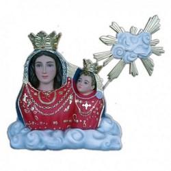 Statua mezzo busto Madonna dell'Arco in vetroresina cm 70