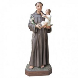 Statua Sant'Antonio da Padova in vetroresina cm 130