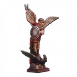 Statua San Michele Arcangelo con spada e scudo in vetroresina cm 110