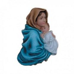 Statua Madonna del Riposo in resina cm 35
