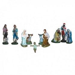 Presepe completo da 10 statue in resina cm 30