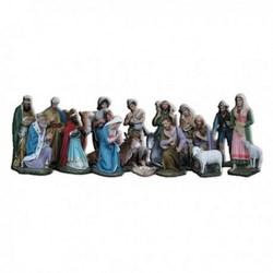 Presepe completo da 18 statue in vetroresina cm 60