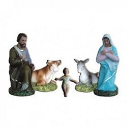 Natività completa da 5 statue in resina cm 25