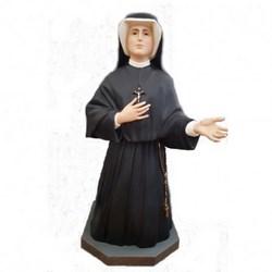 Statua Santa Faustina in vetroresina cm 90