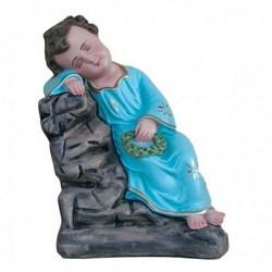 Statua Gesù Bambino Dormiente in resina cm 30