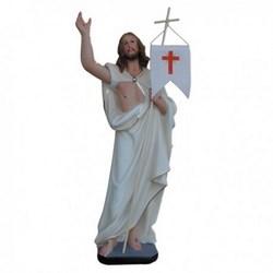 Statua Gesù Risorto in resina cm 40