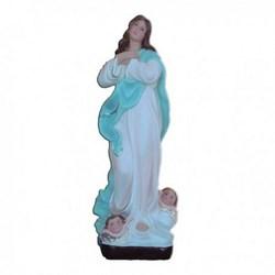 Statua Madonna Assunta del Murillo in resina cm 30