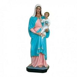Statua Madonna con bambino in vetroresina cm 65