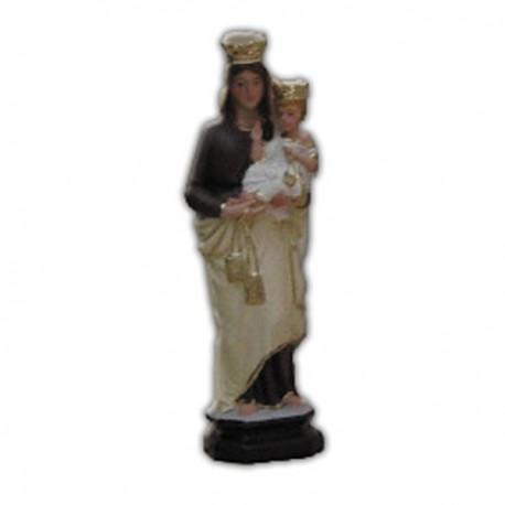 Statua Madonna del Carmine in resina cm 20