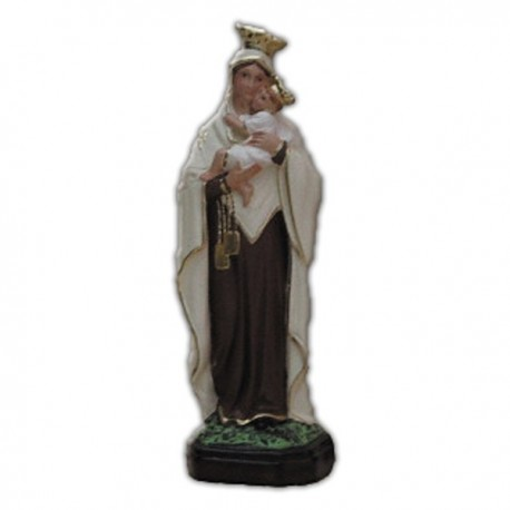 Statua Madonna del Carmine in resina cm 25