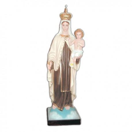 Statua Madonna del Carmine in vetroresina cm 80