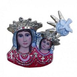 Statua mezzo busto da appendere Madonna dell'Arco in resina cm 34