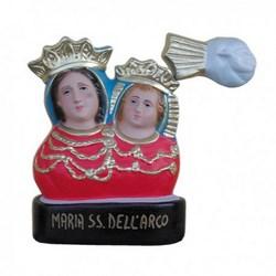 Statua mezzo busto Madonna dell'Arco in resina cm 20