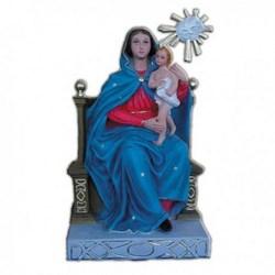 Statua Madonna dell'Arco seduta senza corone in resina cm 33