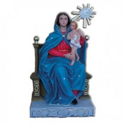 Statua Madonna del Carmine in resina cm 34
