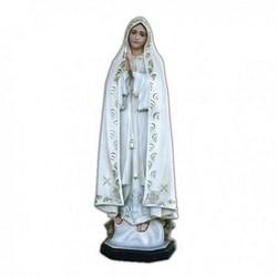 Statua Madonna di Fatima decoro ricco in vetroresina cm 90