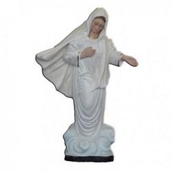Statua Madonna di Medjugorje in resina cm 28