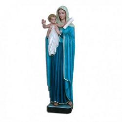 Statua Madonna Regina degli Apostoli in vetroresina cm 80