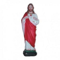 Statua Sacro Cuore di Gesù in resina cm 25