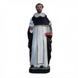 Statua San Domenico Guzman in resina cm 40