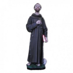 Statua San Francesco d'Assisi con teschio in resina cm 40